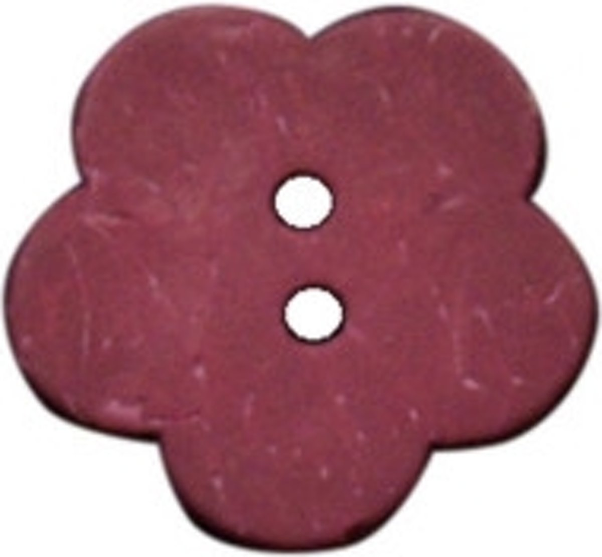 Afbeelding van product Natural buttons 1 pk. coconut small flower red