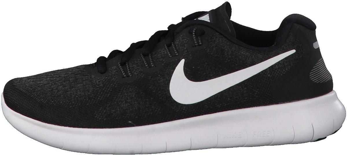 Nike Wmns Free Rn 2017 Hardloopschoenen Dames BlackWhite Dark Grey Anthracite