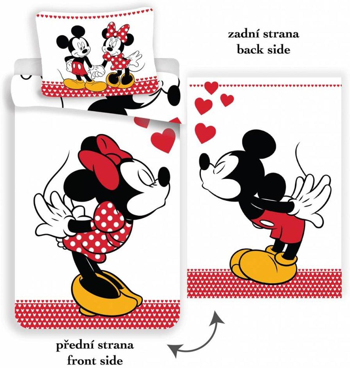 Disney Minnie Mouse Kissing - Dekbedovertrek - Eenpersoons - 140 x 200 cm - Multi kopen