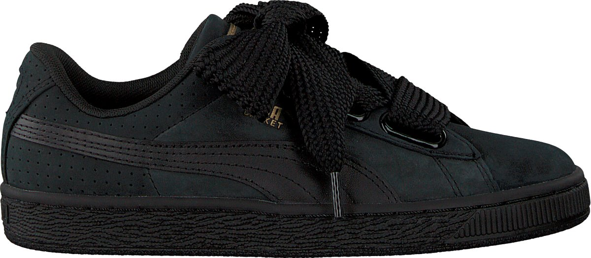Puma Basket Heart Perf Gum Sneakers for Women Black
