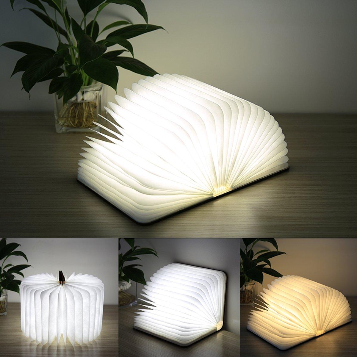 Creatieve LED Flip Origami boek Lamp Nachtlichtjes  Warm wit licht + wit licht  FS-LED01 500 lumen kopen