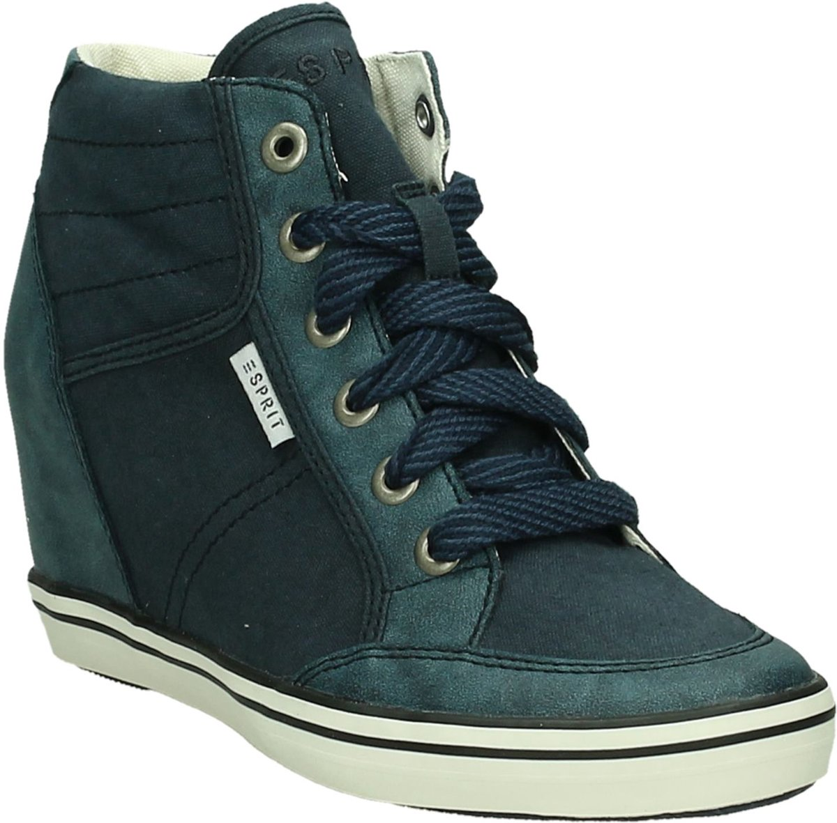 c6b86cc0d50 bol.com | Esprit - 036ek1w112 - Sneaker met sleehak - Dames - Maat 42 -  Blauw - Blue