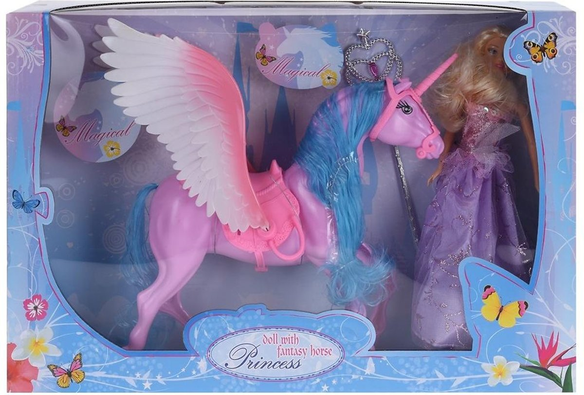 Princess doll with fantasy horse