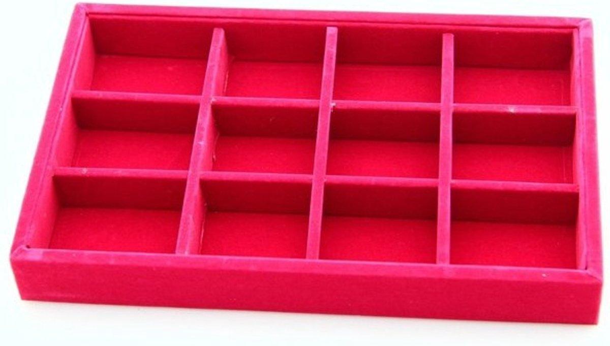 Opberg doos met vakjes roze kopen