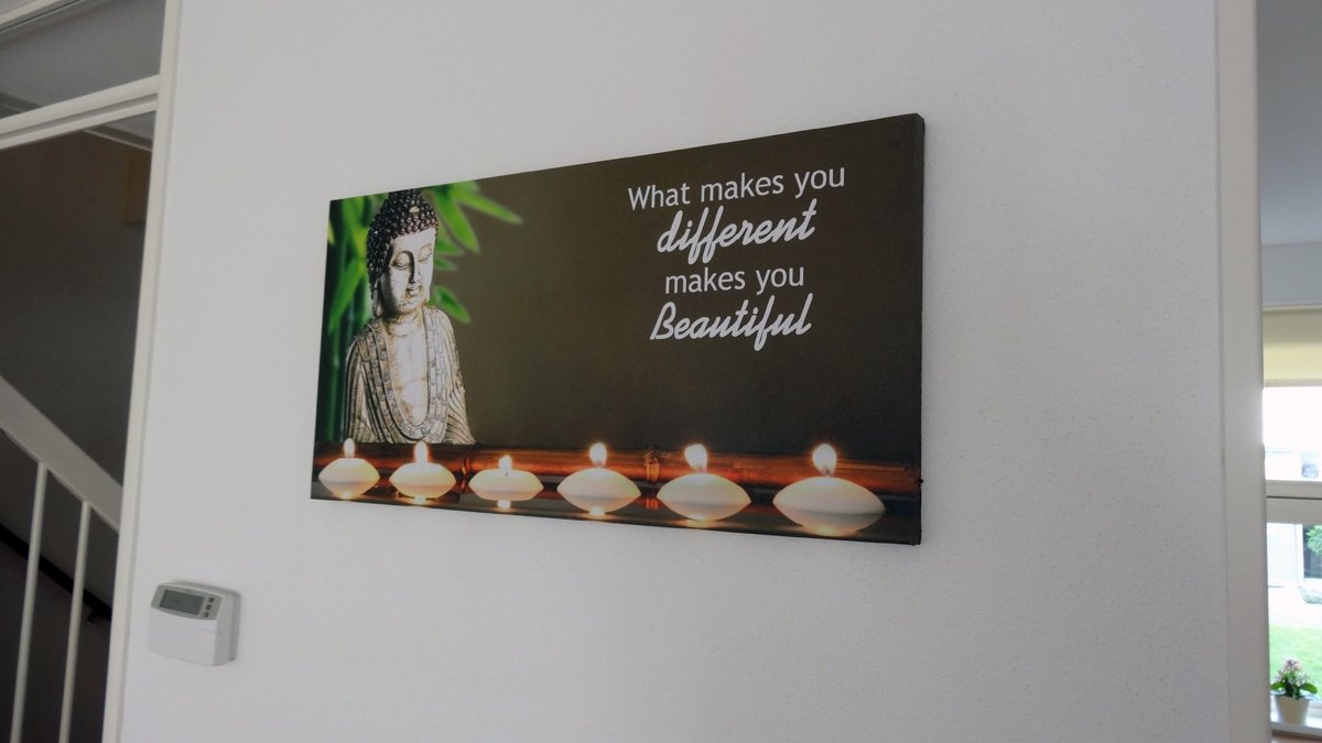 bol.com   Schilderij Boeddha met LED