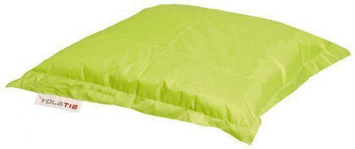 Sit and Joy Mini Basic - Zitzak - Vierkant - 80x80 cm - Nylon - Groen kopen