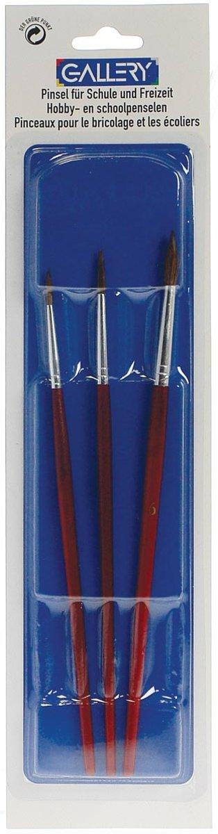 20x Gallery aquarelpenseel, blister met 3 penselen, nr 02, 04 en 06 kopen