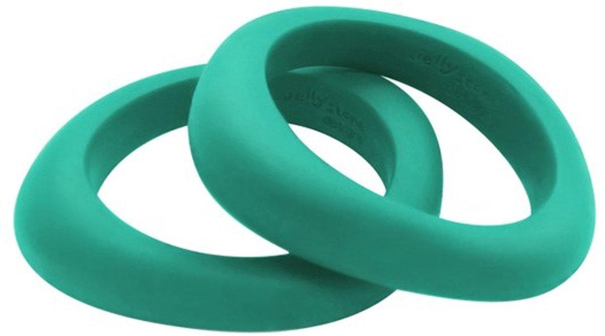 Jellystone Designs Organic Bangle - Kauwarmband - Turquoise Baja Green kopen