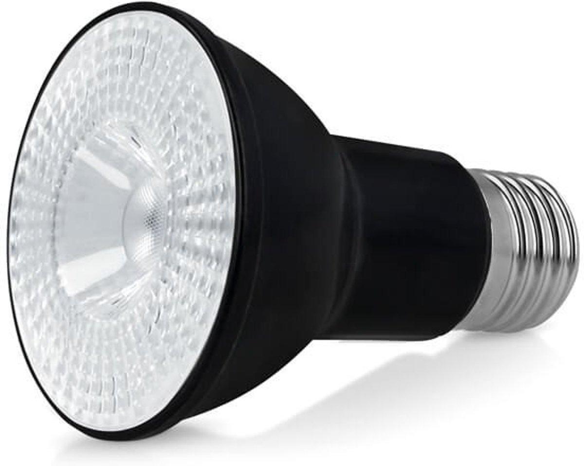 PAR 20 LED SPOT POLLUX 8 WATT E27 DIMBAAR, 3000K, ZWART (VERVANGT 50W) kopen