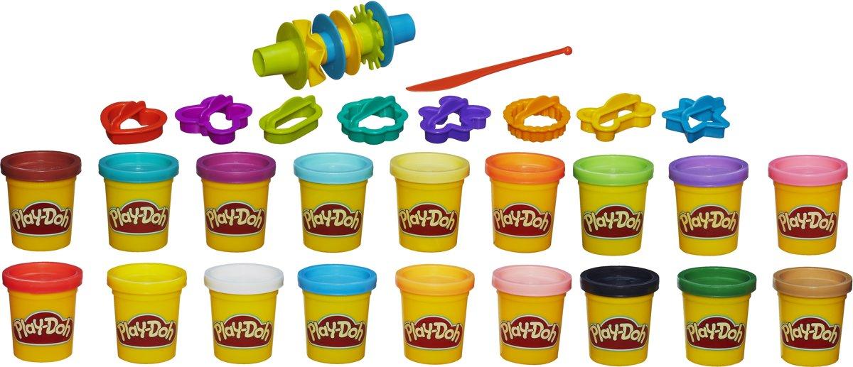 Play-Doh Super Color Kit Klei - 18 potjes 16 accessoires