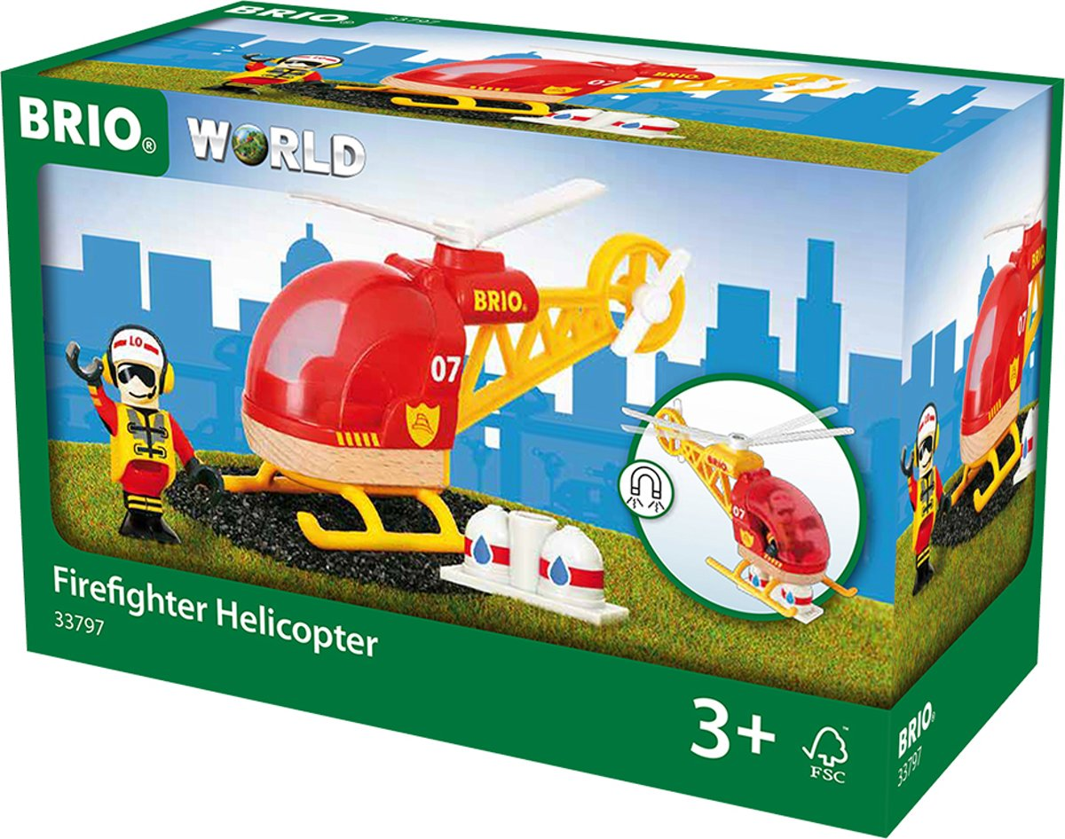 BRIO Brandweer helikopter - 33797