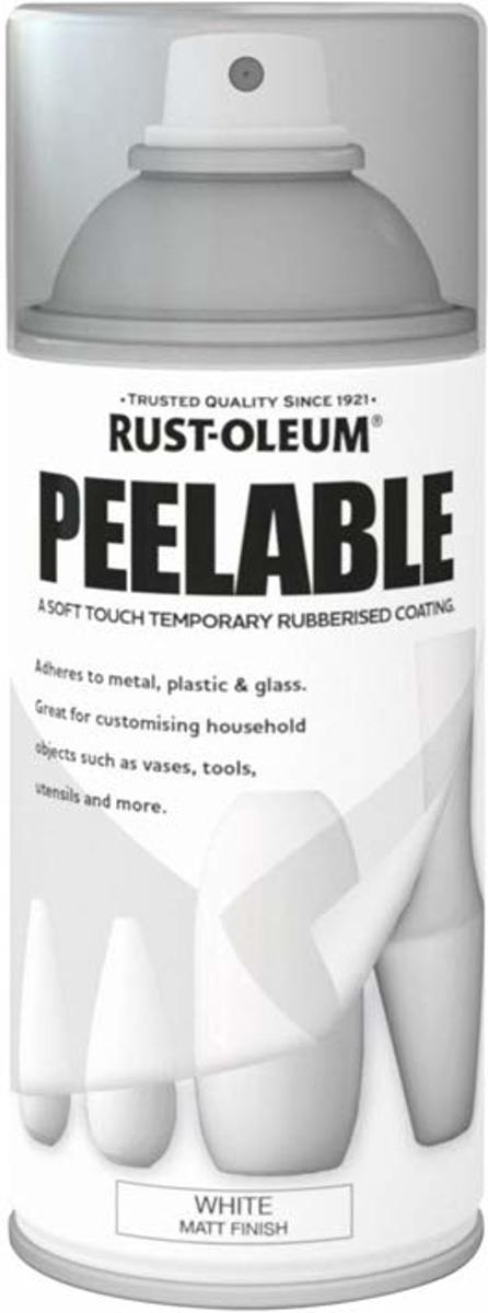 Rust-Oleum Peelable spray - Wit - Soft touch plastic spray