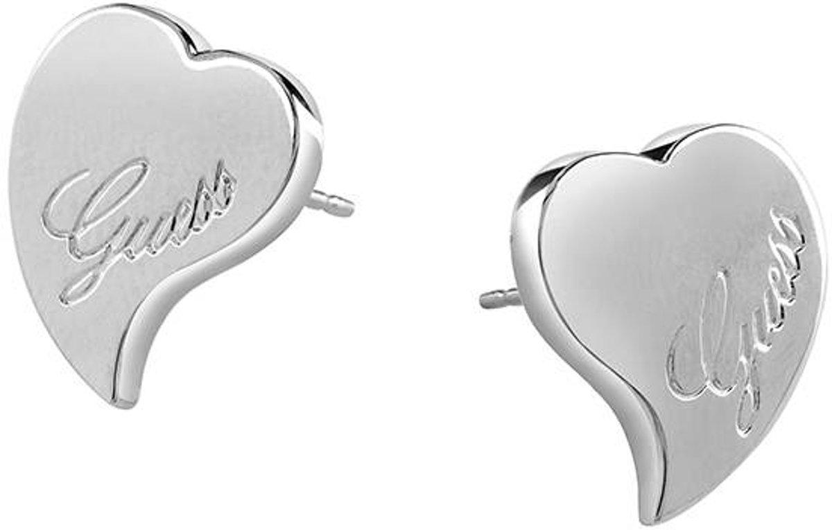 GUESS - Hart - Zilverkleurige Oorbellen
