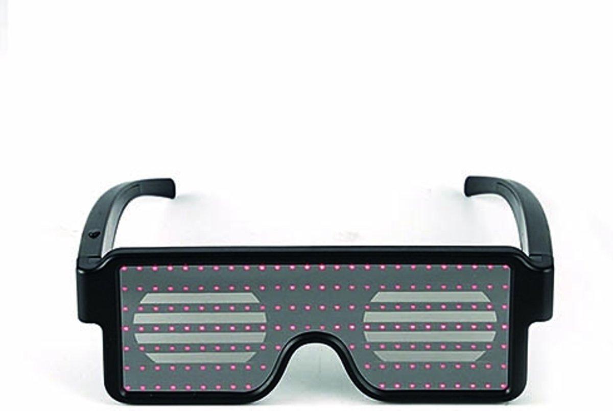 LED party glasses - LED bril - Lichtgevende bril   ROOD kopen