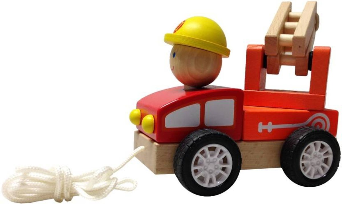 Trekautootje BuToy: brandweer 15x10x8 cm (22627B)