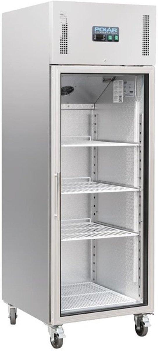 Polar Gastro 1-deurs koeling met glazen deur 600ltr kopen