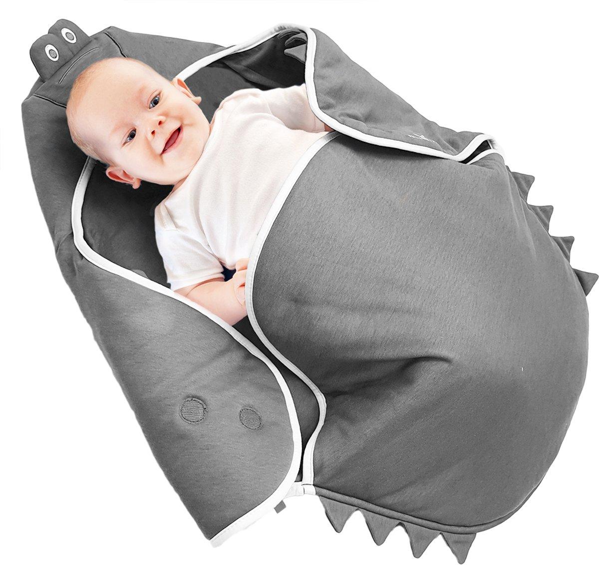 Wallaboo Babydeken Coco - Handige wikkeldeken en wrapper - 100% zacht katoen - pasgeboren tot 9 maanden - Geschikt voor autostoel, kinderwagen, box, ledikant - 70 * 90 cm - Kleur: kopen