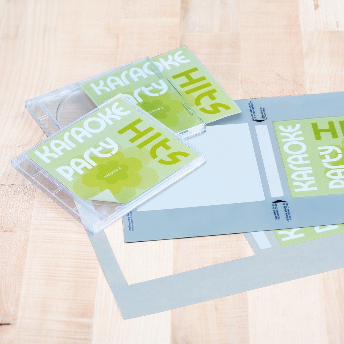 Herma CD-Cover-Etiketten A4 weiß 121,5x117,5 mm Papier matt 50 St