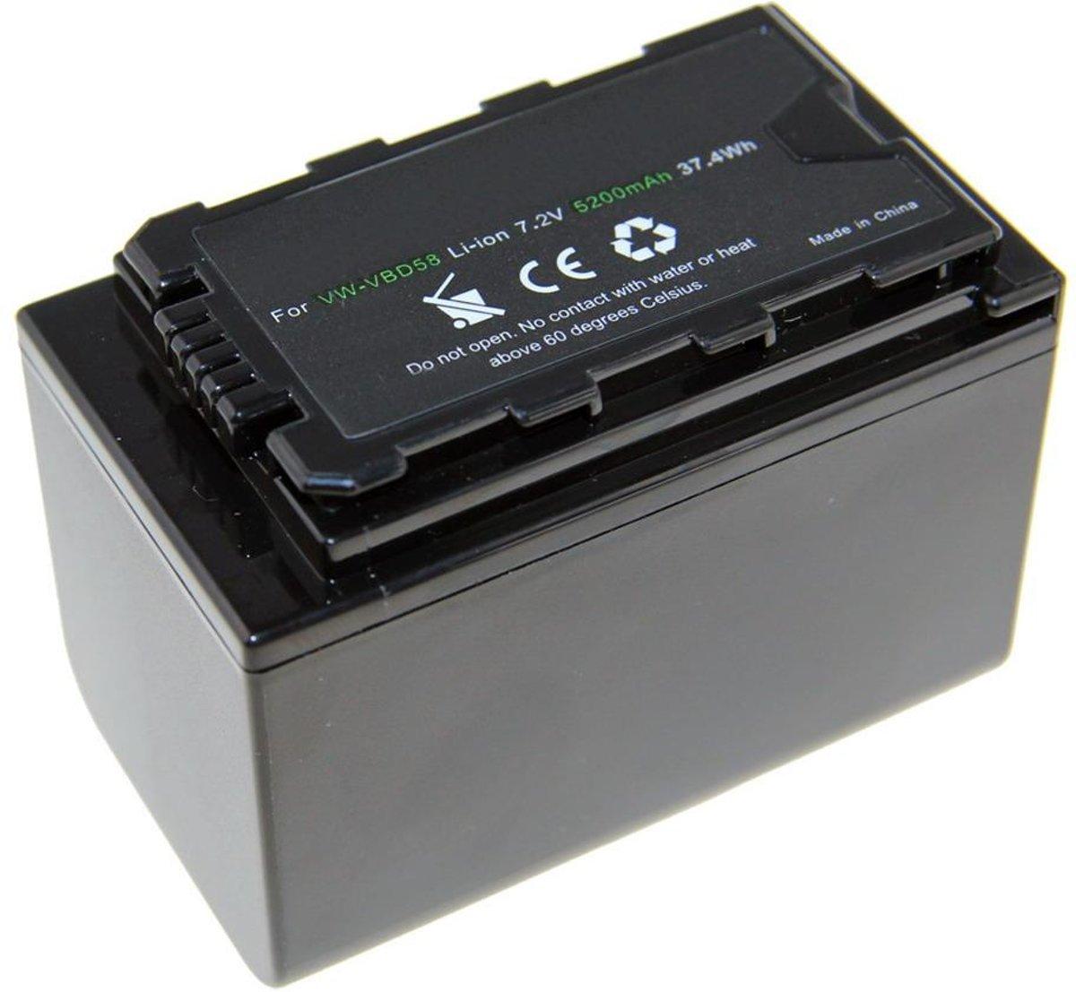 Huismerk Camera-accu VW-VBD58 voor Panasonic