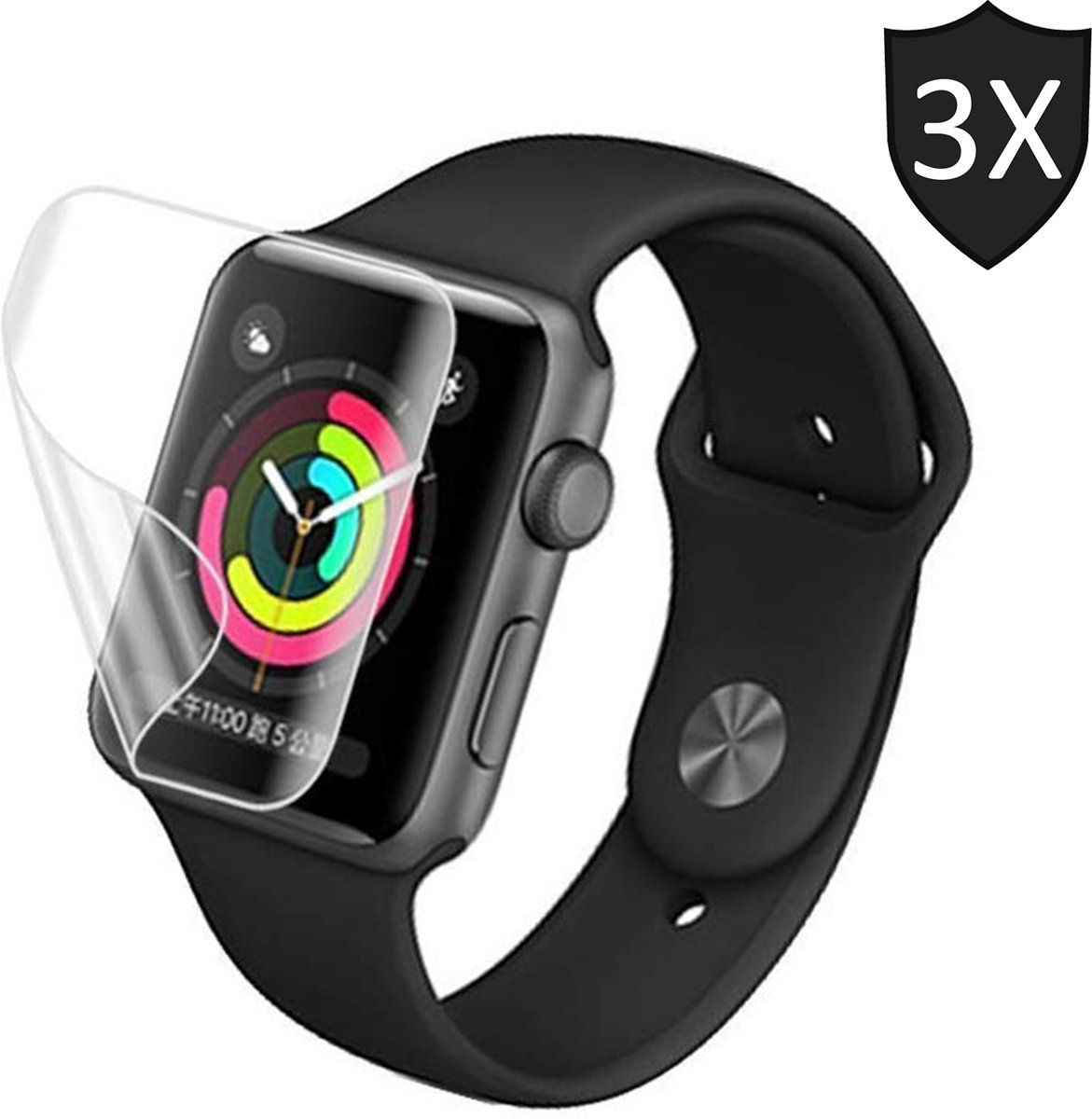 Screenprotector voor Apple Watch 44mm Series 4 van iCall - Crystal Clear - 3 stuks kopen