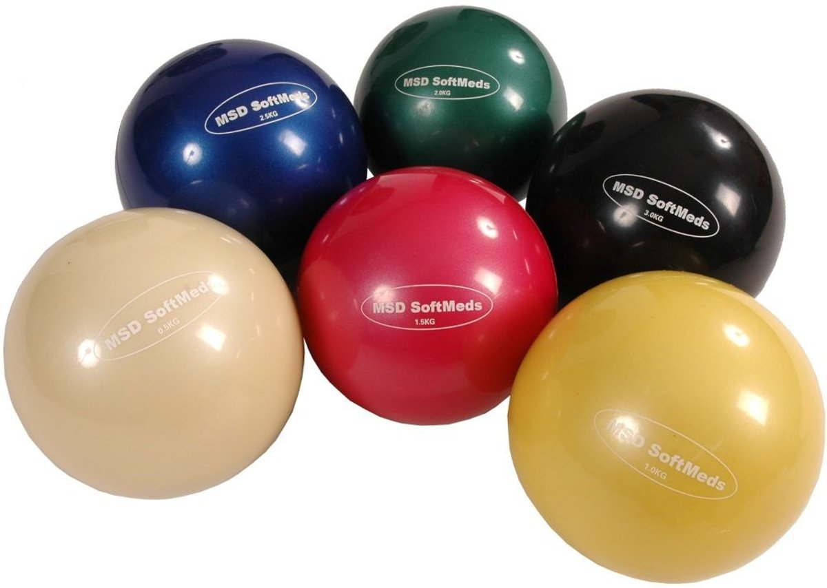 Gewichtbal SoftMed diameter 12cm; 1,5 kg - rood kopen