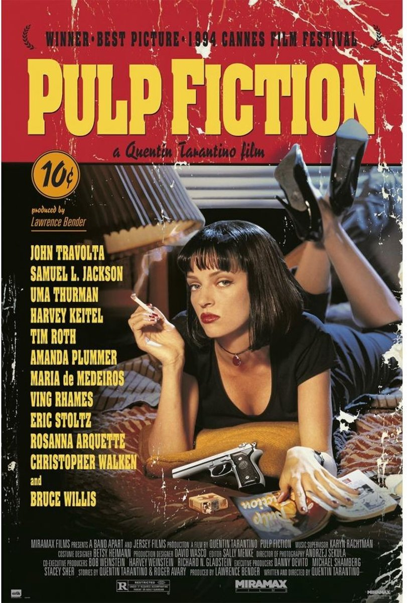 Pulp Fiction-Tarantino-film-poster-61x91.5cm. kopen