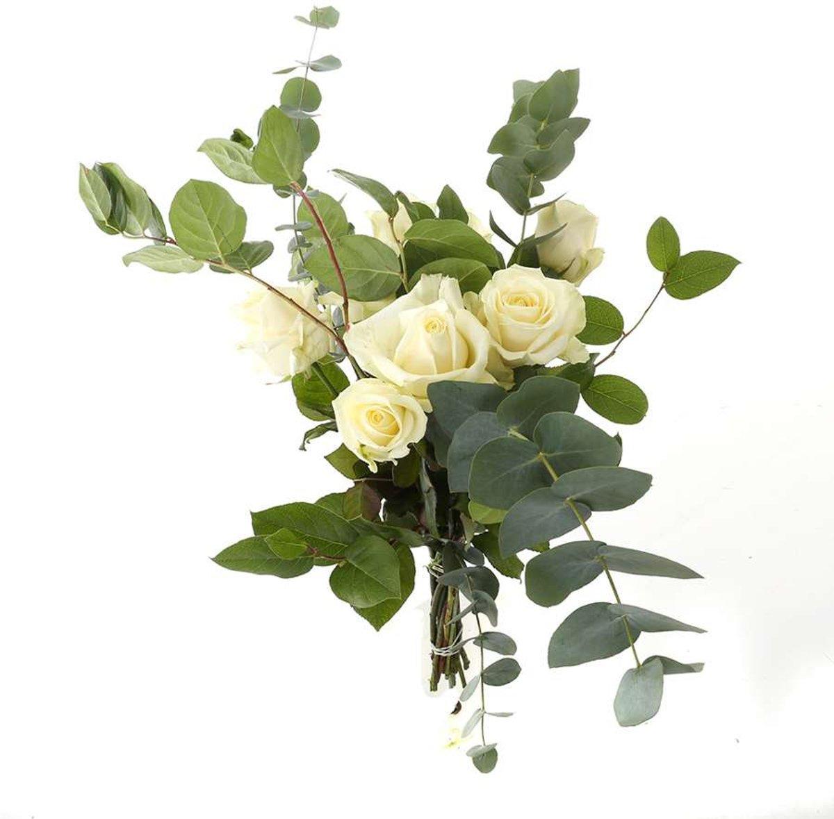 Choice of Green - Boeket Rosaly Wit -16 Stelen - Hoogte ?55 cm kopen
