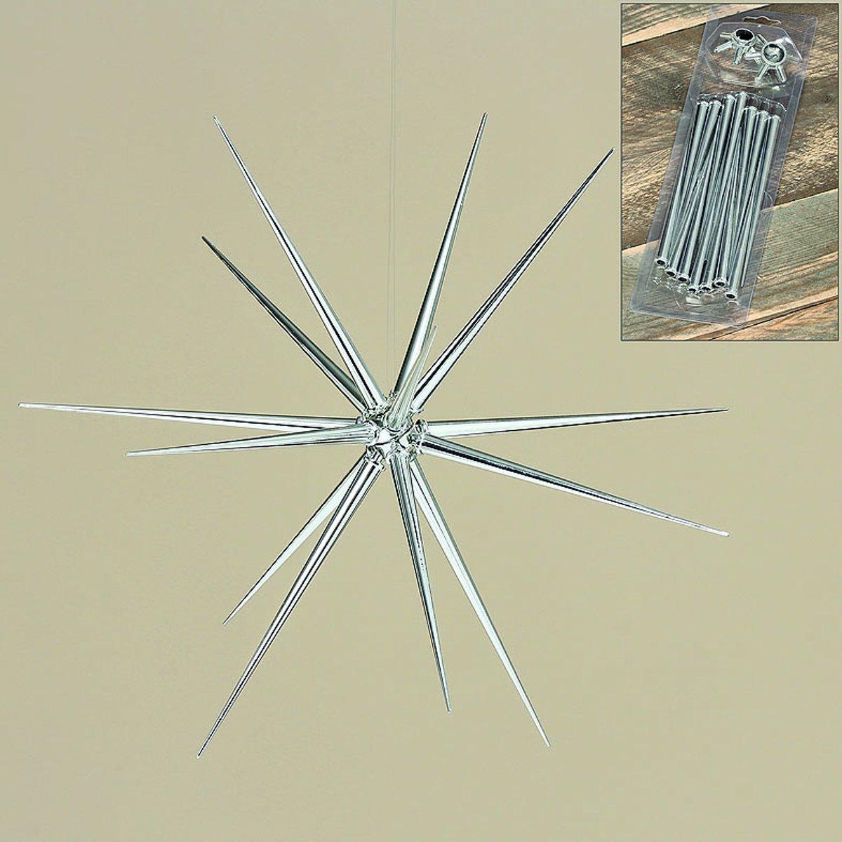 Kerstster - Zilver kleur - 30 cm - Hanger - Kunstof kopen