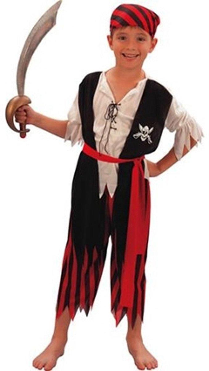 Piraten jongen kostuum 110-116