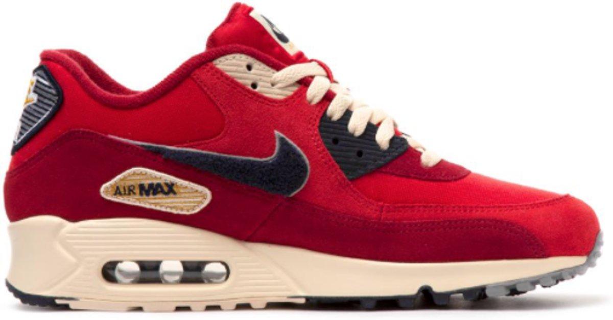 bol.com | Nike Air Max 90 Sneakers Dames - rood - Maat 42.5