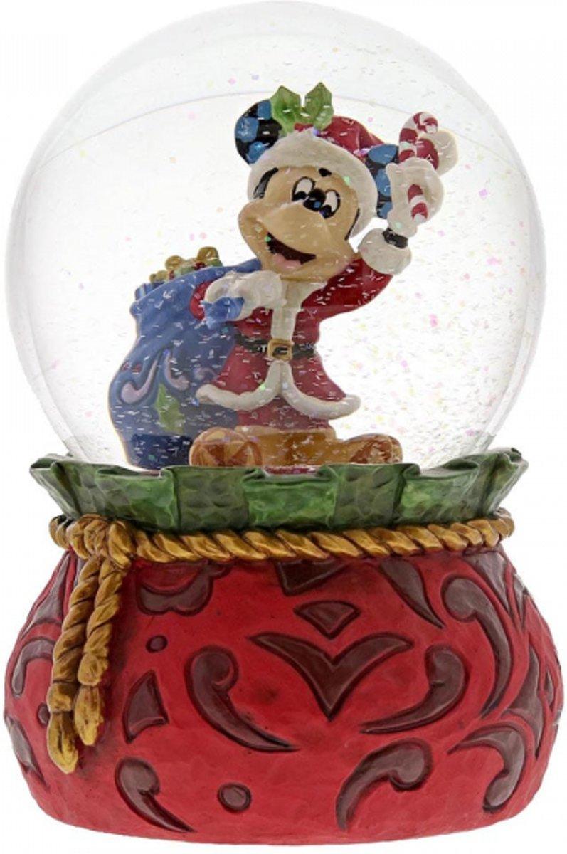Disney beeldje - Traditions collectie - Bringing Holiday Cheer - Snowglobe - Santa Mickey kopen