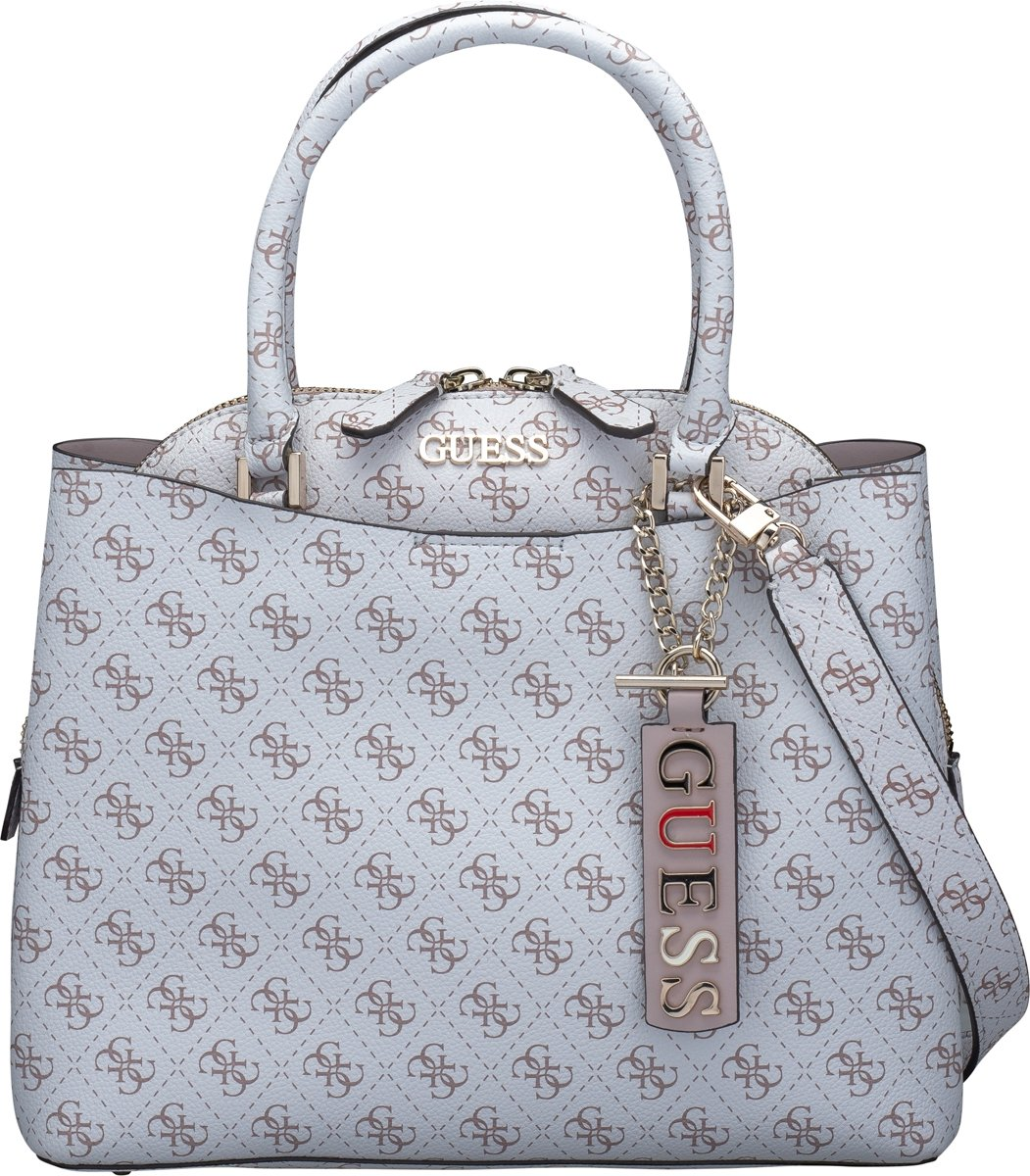 | Guess Maci Large Girlfriend Dames Handtas Wit
