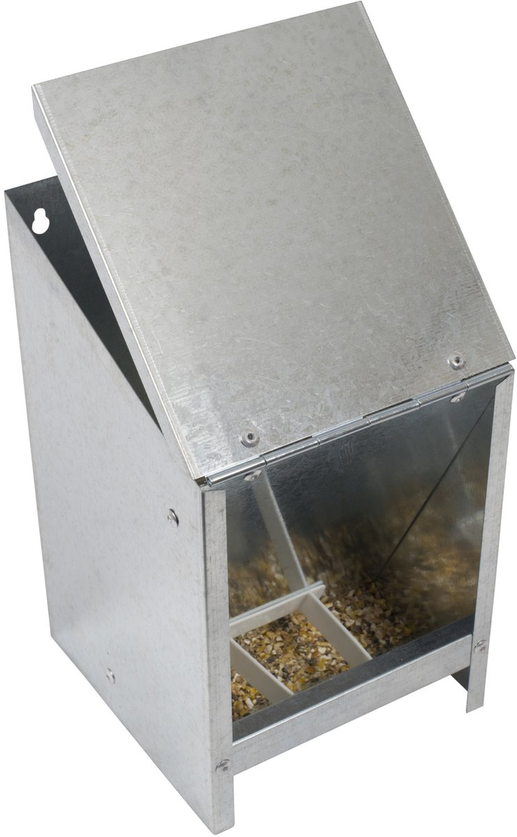 Voerautomaat met deksel voor 2,5 kg voer