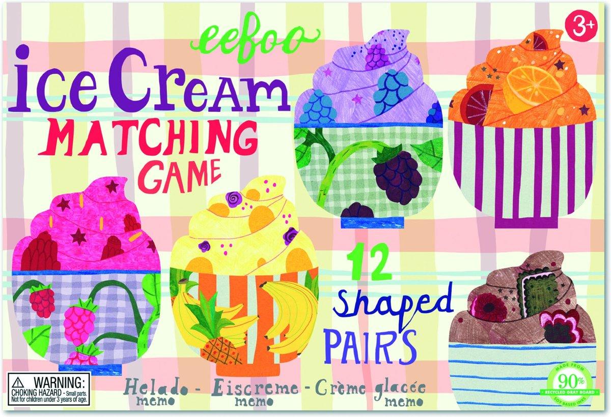 Eeboo Geheugenspel Ice Cream Matching 24 Stuks kopen