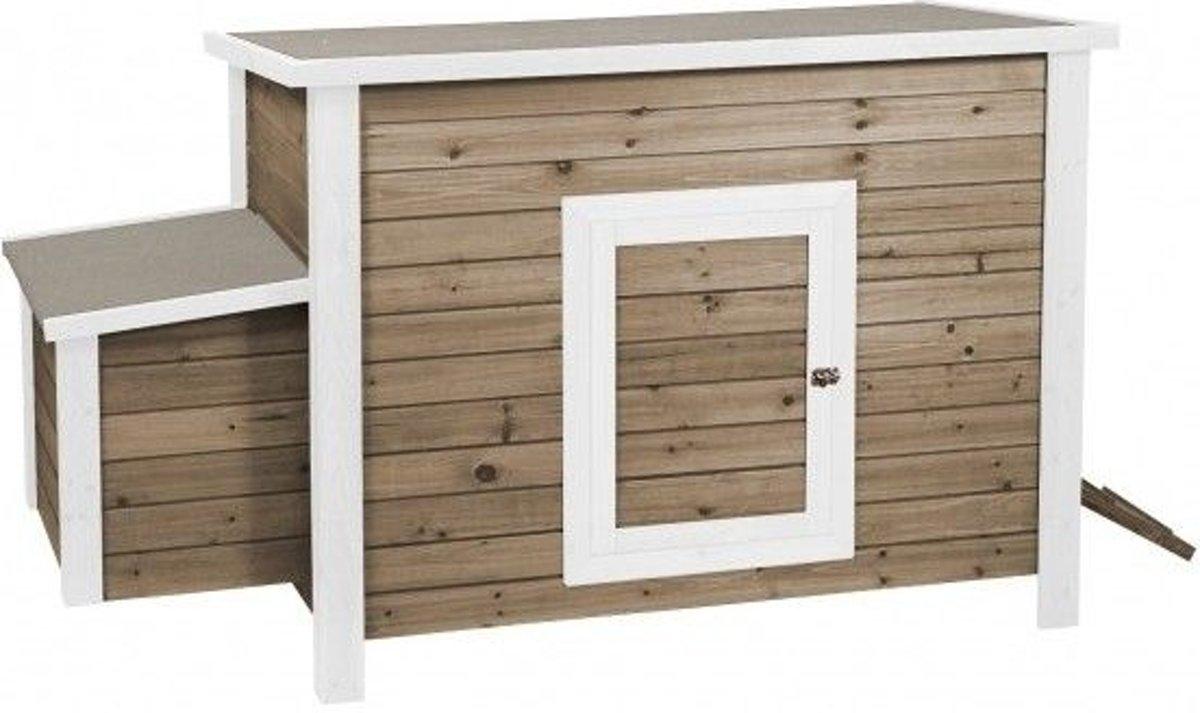 Woodland Kippenhok Life Time 2 Cottage - 100 x 65 x 82 cm - Bruin