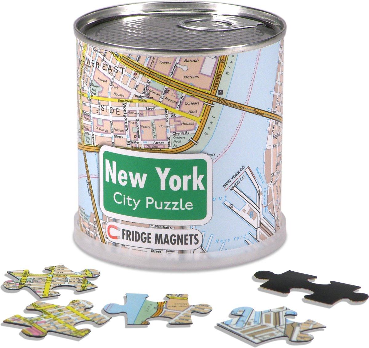 City Puzzle New York City - Puzzel - Magnetisch - 100 puzzelstukjes