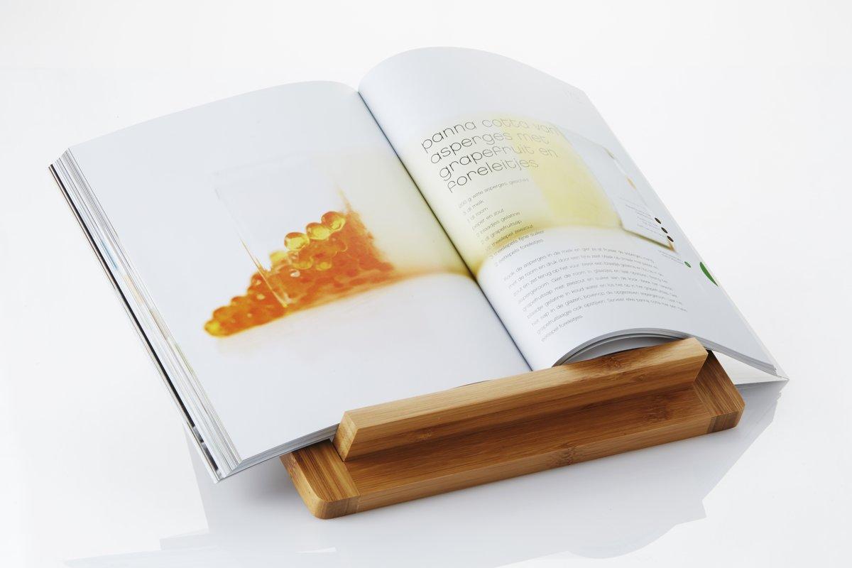 Bol point virgule ipad houder kookboekstaander bamboe