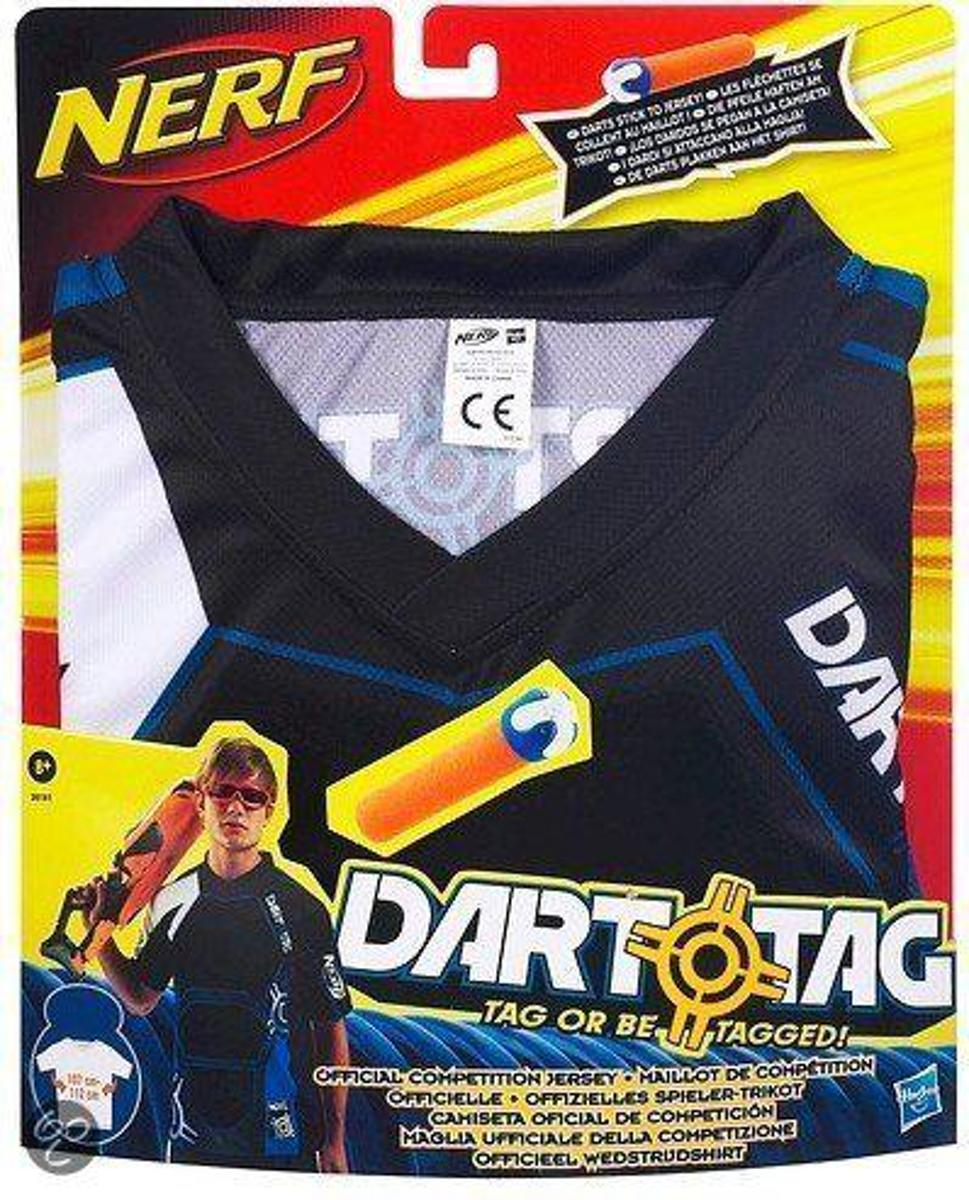 Hasbro Dart tag wedstrijdshirt nerf: blauw maat l/xl