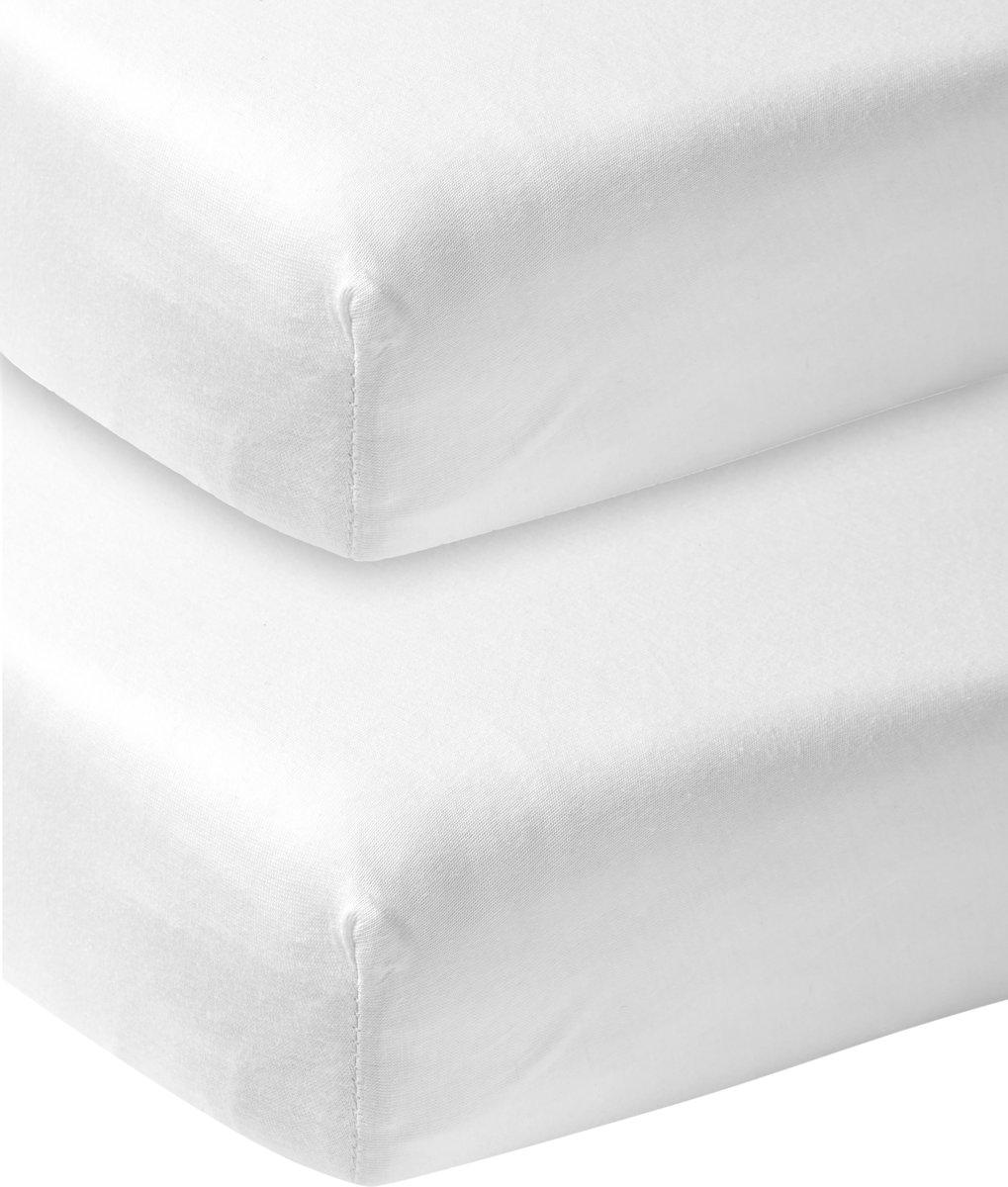 Meyco jersey hoeslaken 2-pack - 60x120 - wit