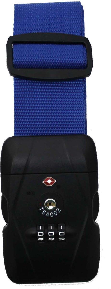 Karry Kofferriem Blauw TSA-slot 105-193cm kopen