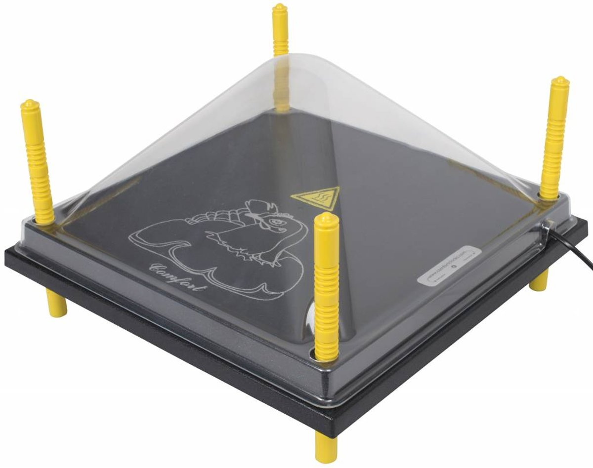 Afdekkap voor warmteplaat 40x40cm