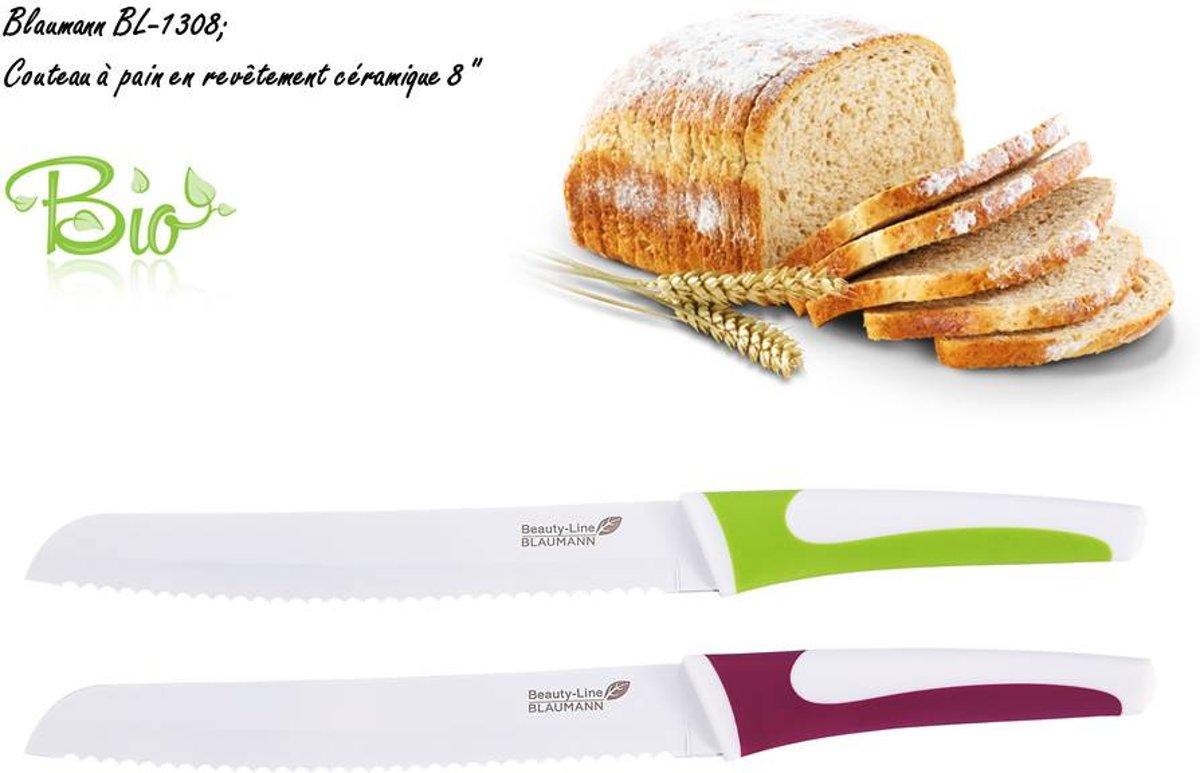 """BLAUMANN BL-1308; BROODMES MET CERAMISCHE COATING 8 """" kopen"""