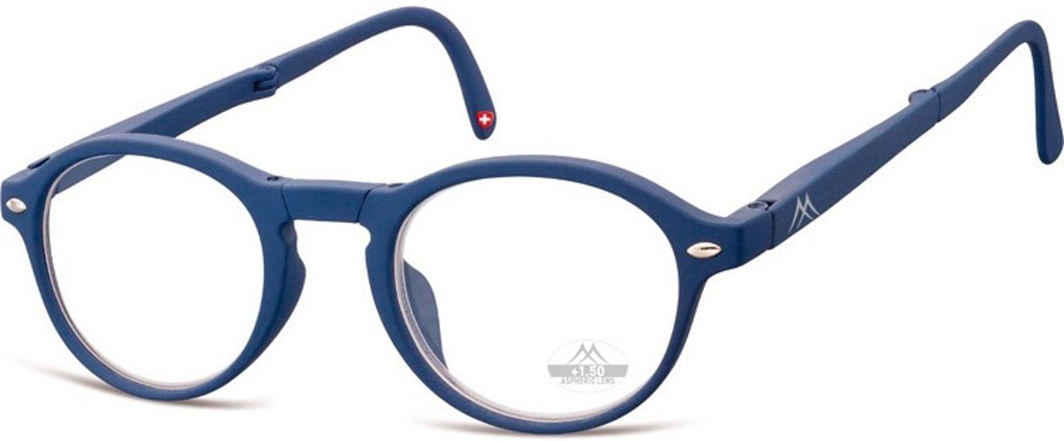 Montana Opvouwbare Leesbril Blauw Sterkte +1,50 (box66b) kopen