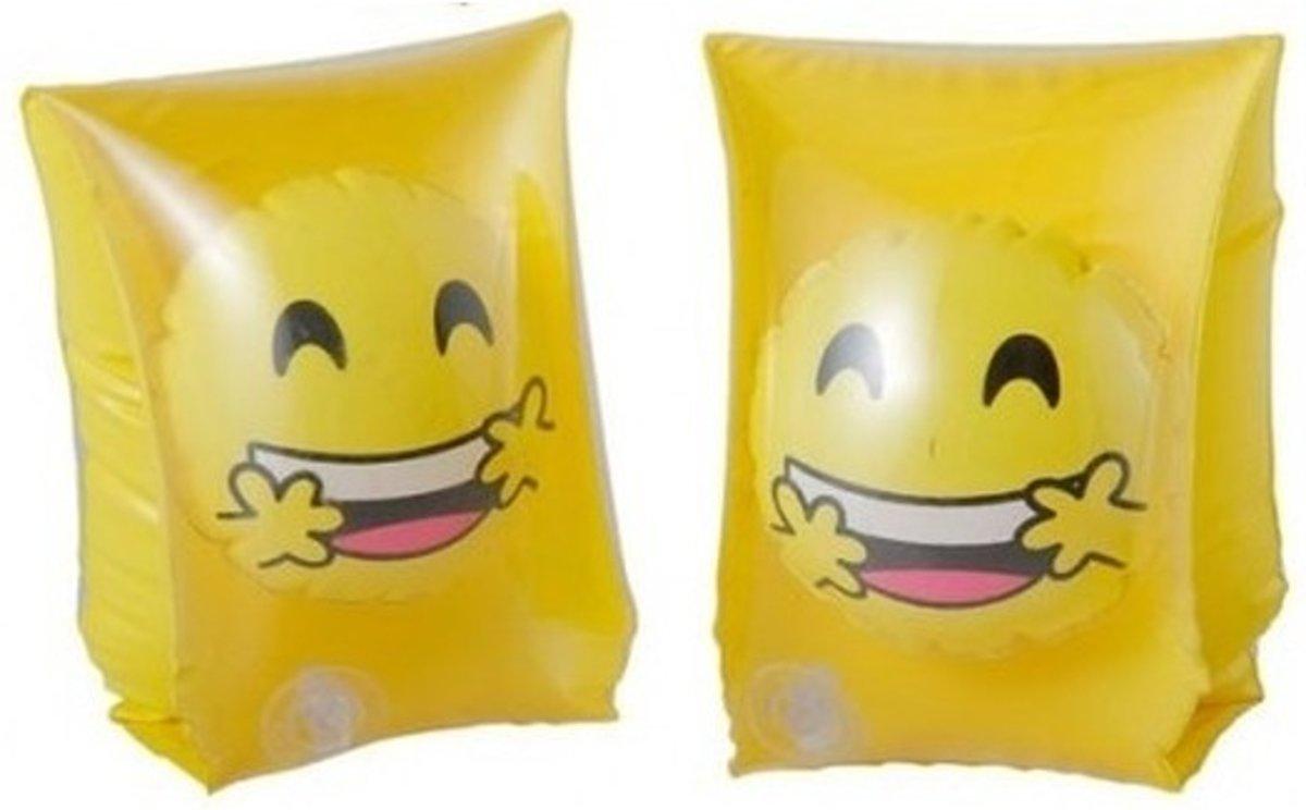Zwembandjes met smiley geel - Zwemvleugels - Zwem armbanden
