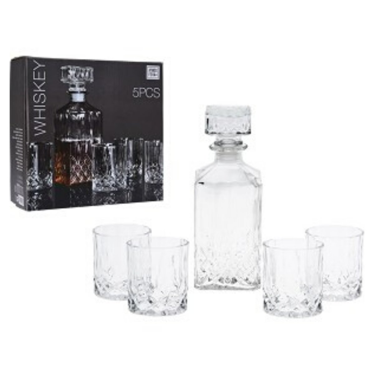 Whisky Karaf - 4 Glazen - Set kopen