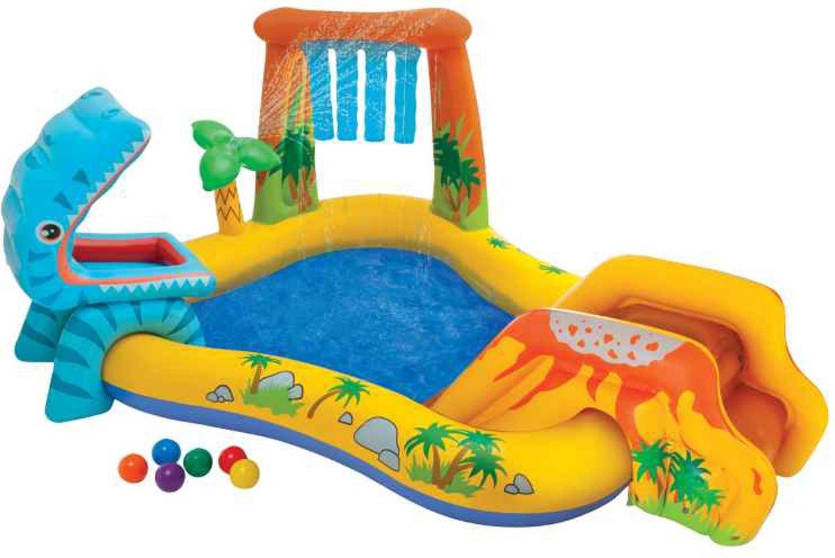 Opblaasbaar Kinderzwembad en Dinosaurus Speelplek | Baby | Peuter | Opblaasbare Kinder Zwembad