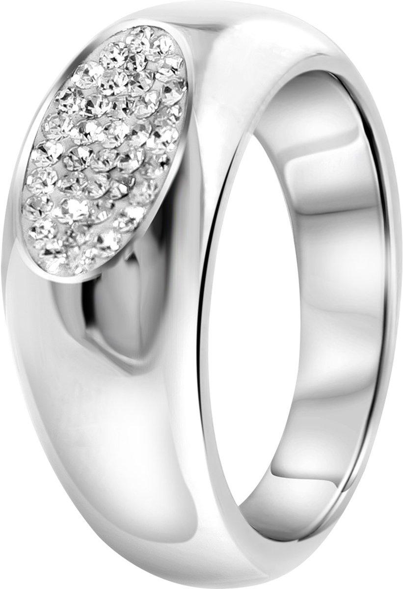 Lucardi - Stalen ring met kristal kopen
