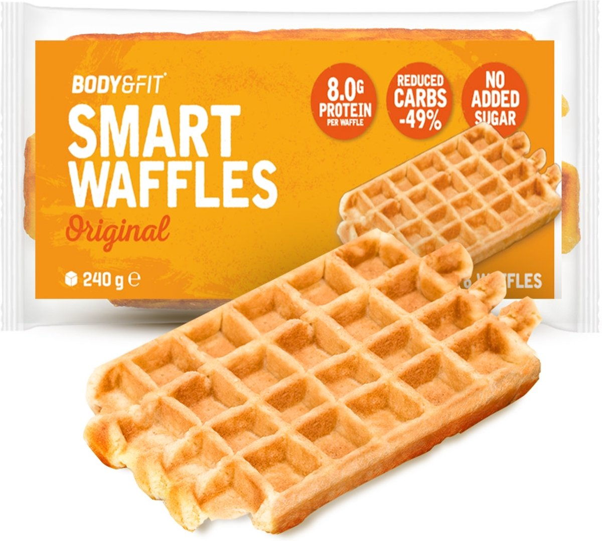 Body & Fit Smart Waffles - Eiwitrijk & Suikerarm - 1 pak (6 wafels) - Original kopen