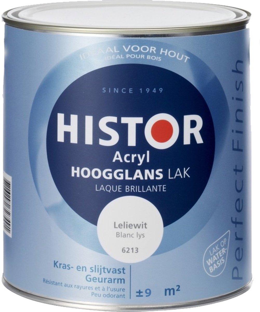 Histor Acryl Hoogglans Lak - 750 ml Leliewit