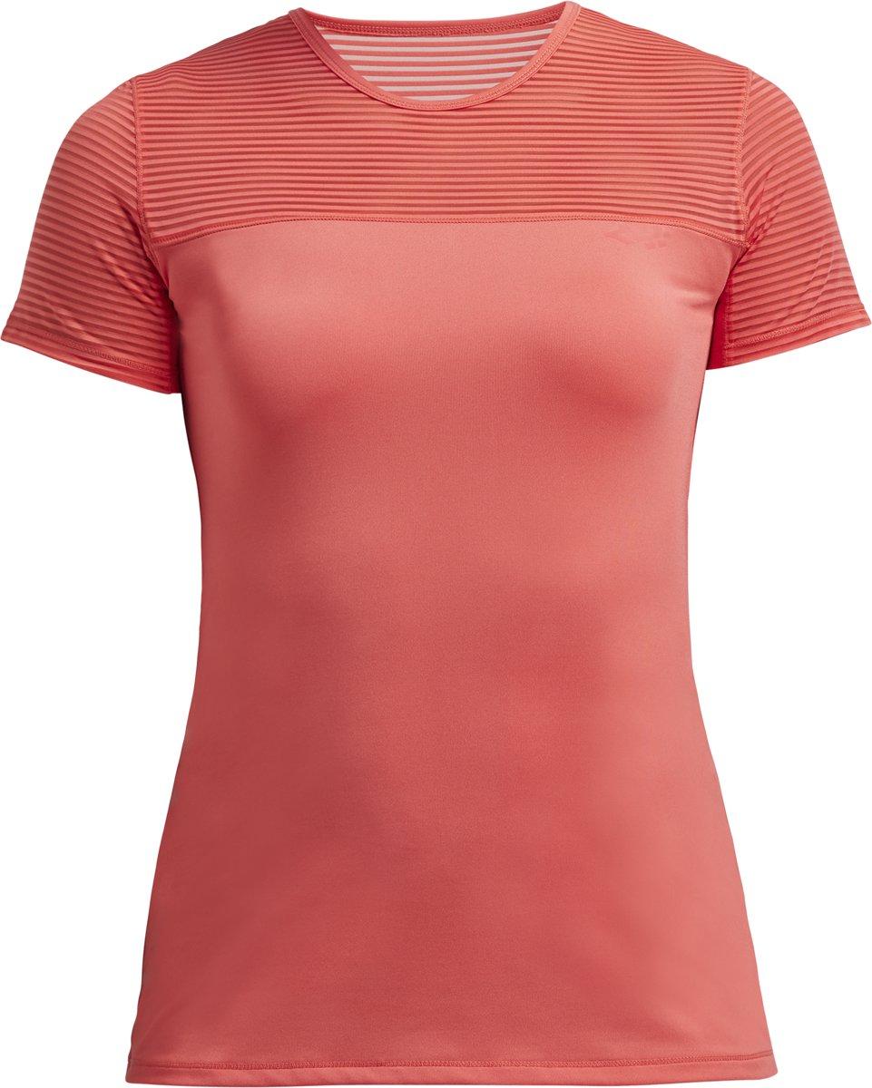 Rohnisch Miko Tee Dames Sportshirt - Coral - Maat XS